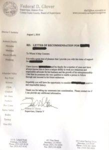 Glover's Letter